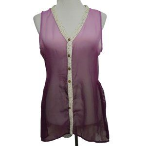Gimmicks BKE| Blouse Purple Ombre Lace Polka-dot
